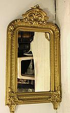 Mirror with a wooden frame