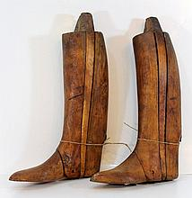 Wooden mold for making/displaying boots