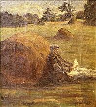 Unknown artist, a man in a field