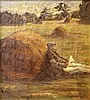 Unknown artist, a man in a field
