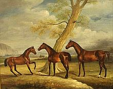 Unidentified artist, horses