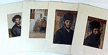 Lot of four prints of paintings by Isidor Kaufmann