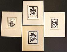 Meir Gur-Arie, lot of four woodcuts