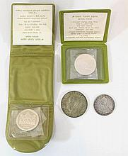 Lot of four silver coins