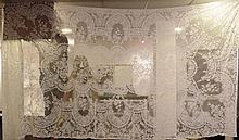 Hand-made lace tablecloth