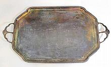 Silver plated tray by Argentor
