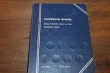 Jefferson Nickel Collection book partial complete