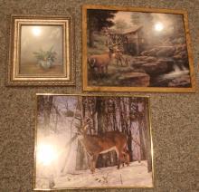 3 pc. Lot of Framed Prints
