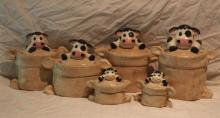 6pc. Cow Canister Set