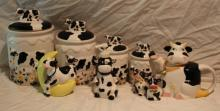 9pc. Lot of Cow Décor Includes 4 Canisters++