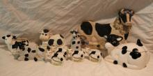 10pc Lot of Cow Décor Includes Butter Dish, 4 Napk