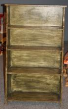 Painted Wood Book Shelf