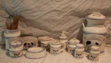 11pc. Lot of Cow Décor Includes Cookie Jar, ++