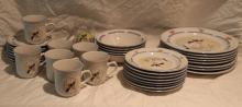 37pc. Lot of Cow Dishware Includes ++