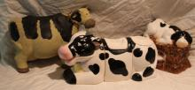 3pc. Lot of Cow Décor Includes 2 Canisters and +