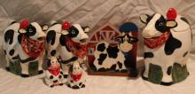 6pc. Lot of Cow Décor Includes S&P Shaker++