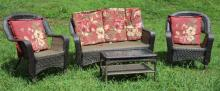 4pc Patio Set Includes Loveseat, 2-Side chairs ++