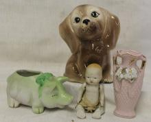 Lot of 4 Pieces of Vintage Ceramics - Baby Doll ++