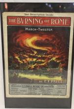 ca. 1900's Framed Burning of Rome Sheet Music