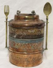 Vintage Brass Tiffin - Indian Lunch Box