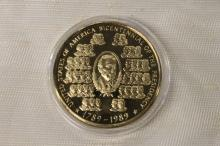 1 OZ SILVER ROUND GOLD PLATED