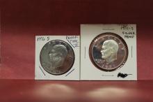 1971-S Ike Silver Proof & Bi-Cent Type II