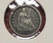 1853 Double Arrows Seated half Dime High Grade