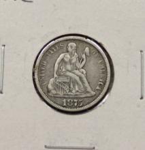 1875 Seated Dime