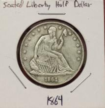 1864 Seated Liberty Half Dollar