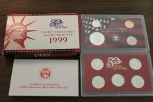 1999-S US Silver Proof Set- First Statehood Scarce