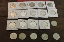 Lot of 20 Kennedy Half Dollars 40% Silver