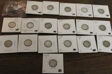 Lot of 19 Mercury Dimes var dates