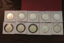 Lot of 10 Kennedy Half Dollars Proofs & more 40%