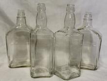 Lot of 4 Never-Been-Filled Jack Daniel's Bottles