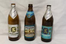 Lot of 3 Vintage Löwenbräu Beer Bottles