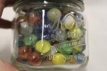 Vintage Kerr Canning Jar FULL of Vintage Marbles!
