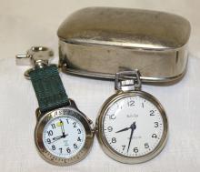 Vintage Master's Watch + Pocket Watch + Box