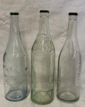 Lot of 3 Antique Mineral Spring Water Bottles