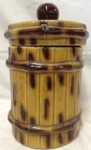 Vintage McCoy Bamboo Cookie Jar