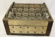 ca. 1947 Milk for Vigor Crate Stocked w/ Bottles!