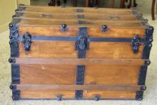 Vintage Wooden Travel Trunk