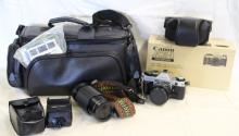 Vintage Canon AE-1 Camera, Lenses, Bag +++
