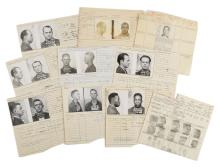Police Booking Sheets - Robbery - Group of 10, Missouri State Penitentiary