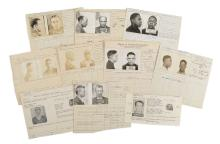 Police Booking Sheets - Burglary - Group of 10, Missouri/Ohio State Penitentiary