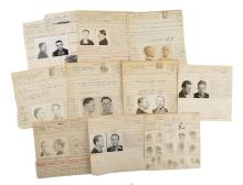 Police Booking Sheets - Burglary & Theft - Group of 10, Ohio Penitentiary