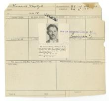 Police Booking Sheet - Vincent Motyl -