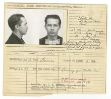 Police Booking Sheet - 1938, Missouri Penitentiary w/ Mugshots & Fingerprints