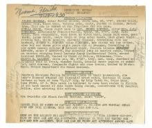 Detective Bureau Daily Bulletin - Miami, Florida, 1930