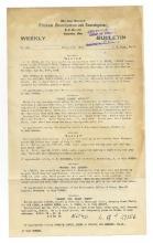 Weekly Bulletin -  Ohio State Bureau of Criminal Investigation, Columbus, 1930