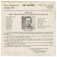 Wanted Notice - $50 Reward / Perry Munden -